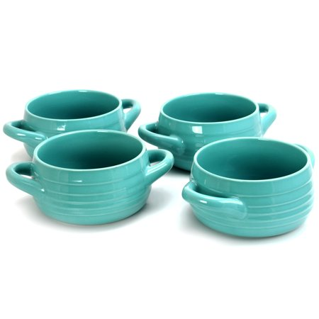 Gibson Town Market 4 Piece Set of 29.7 Oz Soup Bowls in Turquoise ()