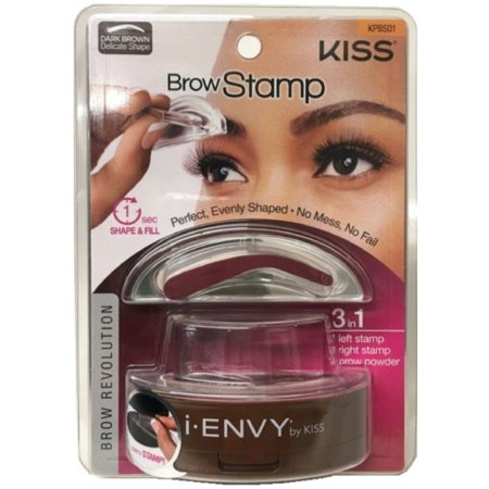 KISS I Envy Brow Stamp For Perfect Eyebrow Dark Brown 1 Ea