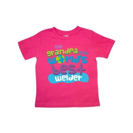 Worlds Best Welder Grandpa Toddler T-Shirt