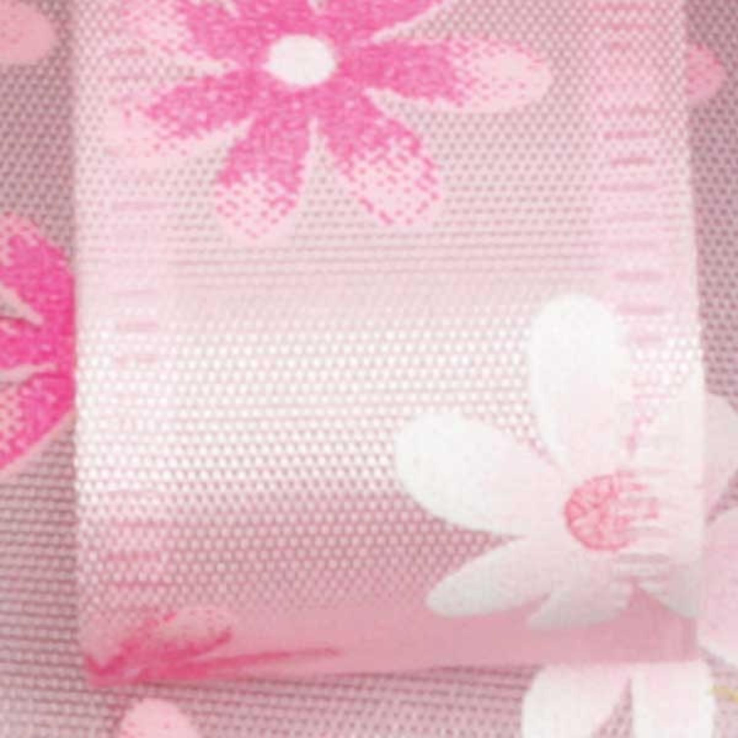 "Spring Flowers Pink Floral Wired Craft Ribbon 7/8"" x 40 Yards"