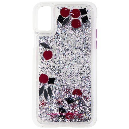 huge discount 375f7 54418 Case-Mate Waterfall Glitter Case for iPhone X 10 - Pink, Black, Silver  Glitter