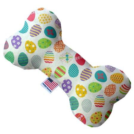 - Easter Eggs 8 Inch Canvas Bone Dog Toy