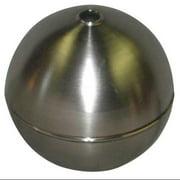 NAUGATUCK GRT45S421C Float Ball,Round,SS,4-1/2 In