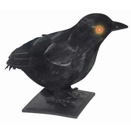 Realistic Crow w/ Light-Up Eyes & Sound Halloween - Halloween Hospital Sounds