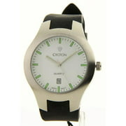 Croton CA301052BSWH Mens Sporty Black Rubber Band Date Watch