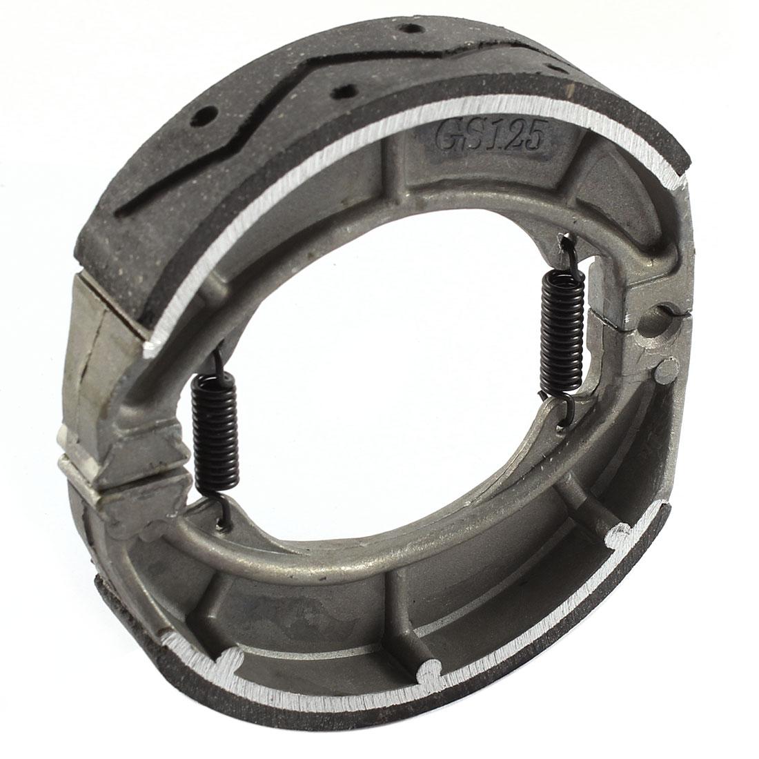 "Unique Bargains 4.7"" Dia Metal Motorcycle Rear Pads Caliper Drum Brake Shoes for GS-125"