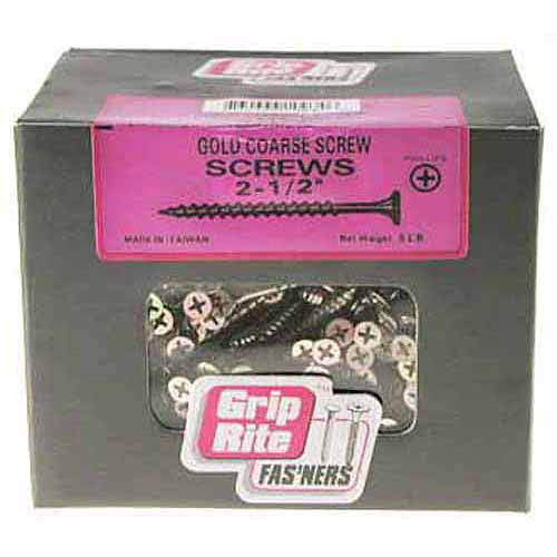 Grip-Rite #2 x 2-1/2 in. Phillips Bugle Head General Purpose Screws (5 lb.-pack)