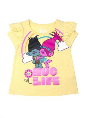 eec9fa222 Product Image Trolls Ruffle Sleeve T-Shirt (Toddler Girls)