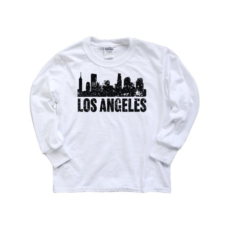 Los Angeles Skyline Grunge Youth Long Sleeve T-Shirt