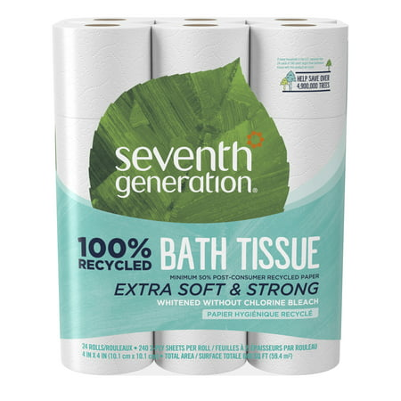 Seventh Generation White Bathroom Tissue 2-ply Toilet Paper, 24 count