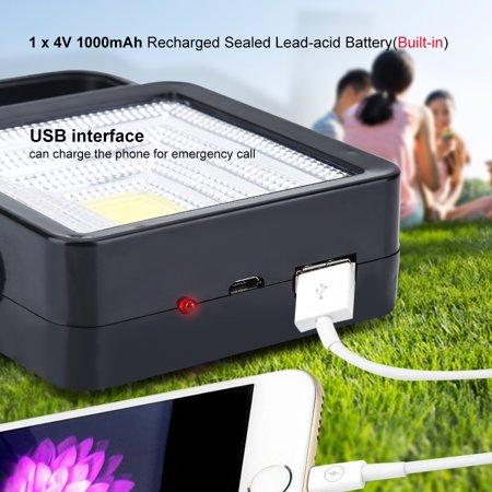 WALFRONT Lumière extérieure rechargeable de secours de tente de lanterne campante actionnée solaire de LED, lanterne campante de secours - image 3 de 10