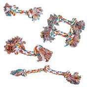 Multi Colored Knotted Rope Bone Dog Toy Tough & Durable For Big Dogs Too !