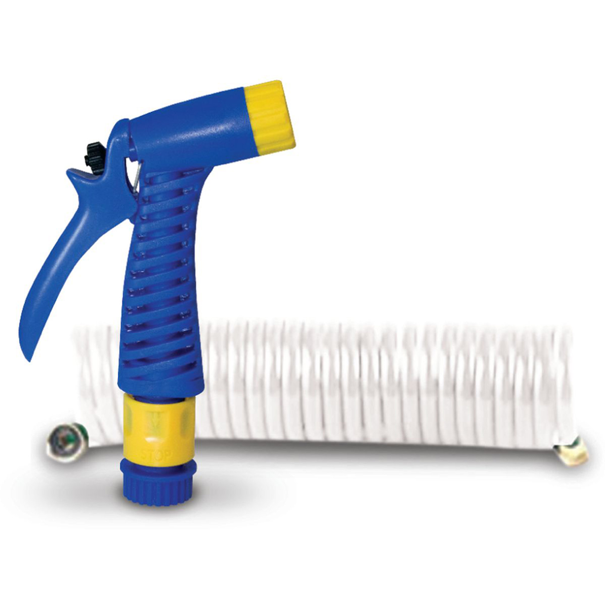 """SeaSense 1/2"""" x 15' Coiled Hose with Nozzle"""