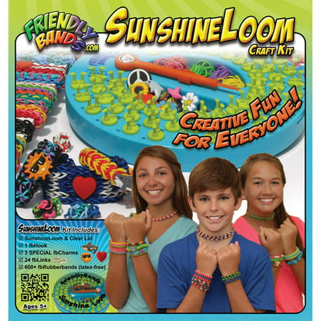 FriendlyBands Sunshine Loom Rubber Band Bracelet Craft Kit (Rubber Bands For Bracelets)