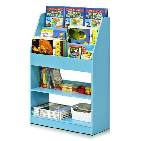 furinno kidkanac kids bookshelf 5 shelf multiple colors. Black Bedroom Furniture Sets. Home Design Ideas