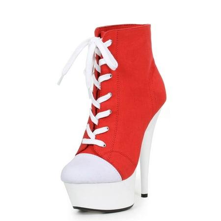 609-Sneaks 6'' Heel Athletic Womens - Ellie 6 Inch Heels