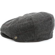 9058ba34d Sakkas Vintage Style Wool Blend Newsboy Snap Brim Cap - Plaid Multi - XL