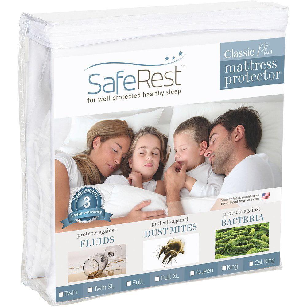 SafeRest Classic Plus Hypoallergenic 100% Waterproof Mattress Protector Vinyl Free,... by