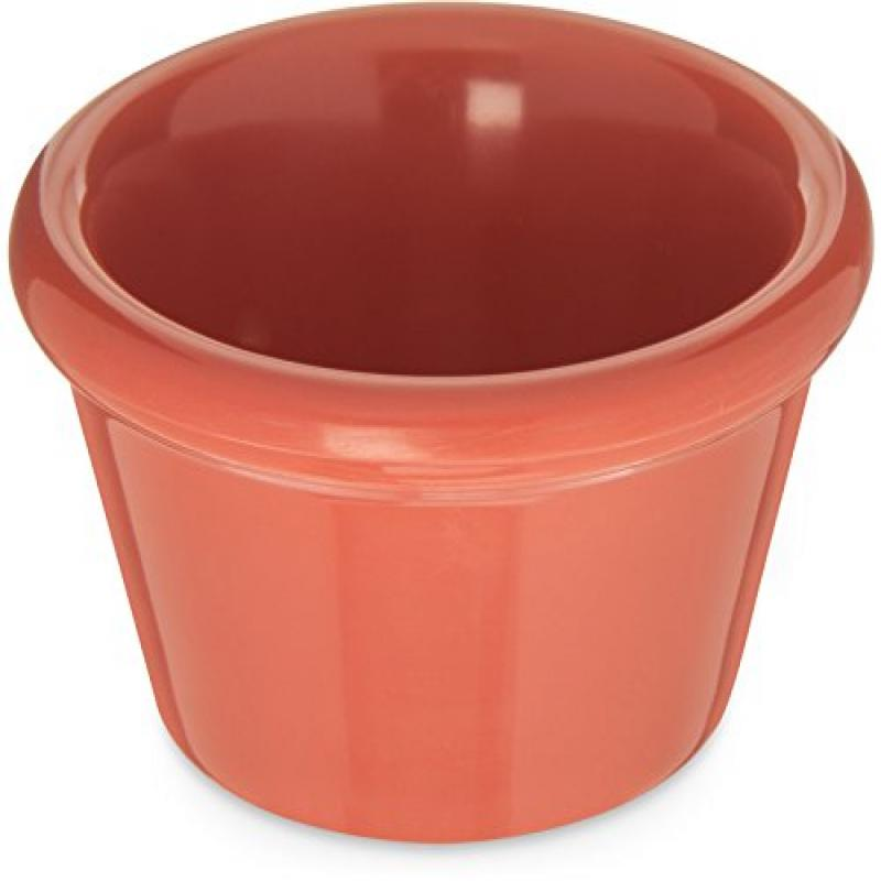 Carlisle 085252 Melamine Smooth Ramekin, 2 oz. Capacity, Sunset Orange (Case of 72) by