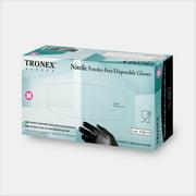 Tronex-Nitrile Glove, Food Safe, Powder-Free, Finger-Textured, Black, Medium (Case of 1000)