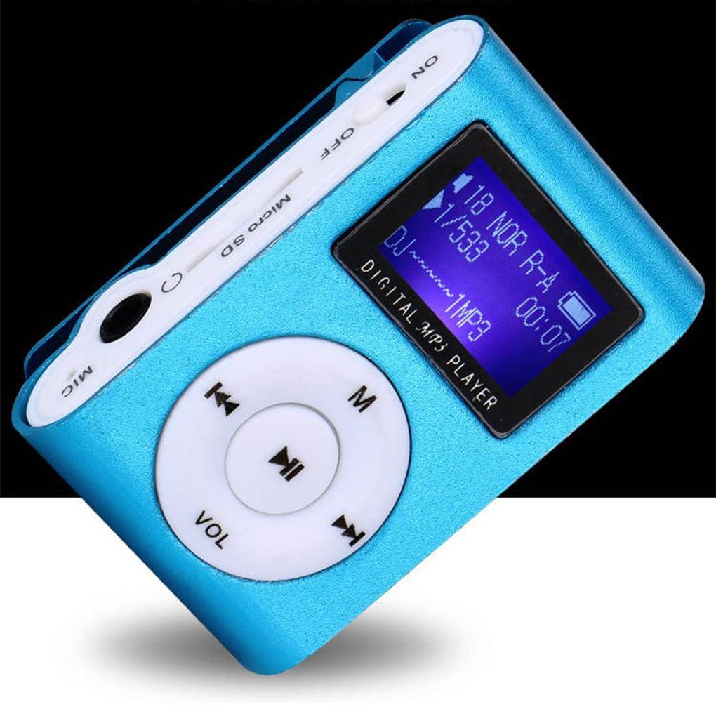 mini reproductor MP3 con clip de metal y ranura para memoria externa Micro SD no incluida MP3 Player con clip Reproductor MP3 Running