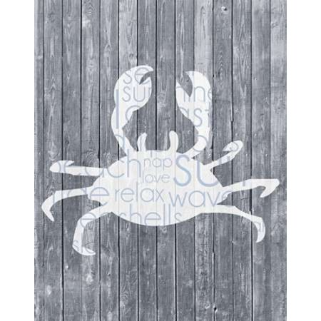 Crab Wood Panel Poster Print by Lauren Gibbons (22 x (Wally Woods 22 Panels That Always Work)