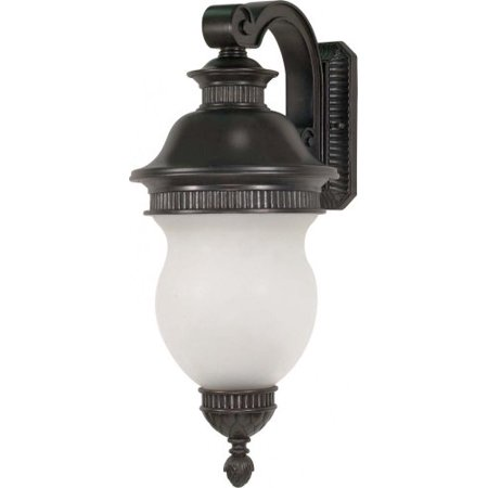"Nuvo 60/879 Luxor - 3 Light - 27"" - Wall Lantern - Arm Down w/ Satin Frost Glass -Chestnut Bronze Finish"
