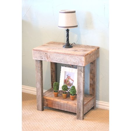 Rustic End Table - Rustic Natural Cedar Rectangle Table