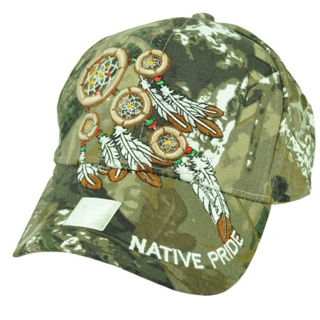 - Native Indian American Pride Dream Catchers Feather Camouflage Camo Hat Cap