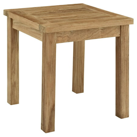 Modway Marina Outdoor Patio Teak Side Table, Natural
