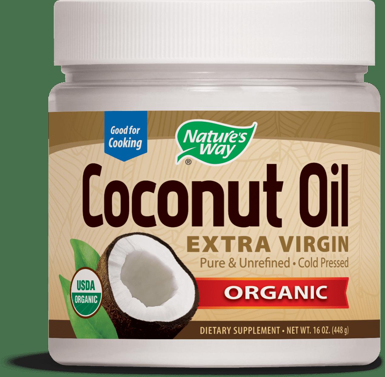 Nature's Way Organic Coconut Oil, Extra Virgin, Cold-Pressed, Non-GMO, 16 Oz