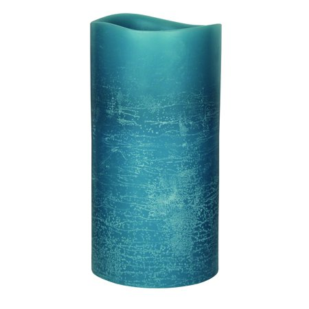 GKI/Bethlehem Lighting Encandra Pillar Candle, 3x6 Inch, Blue - Blue Candle
