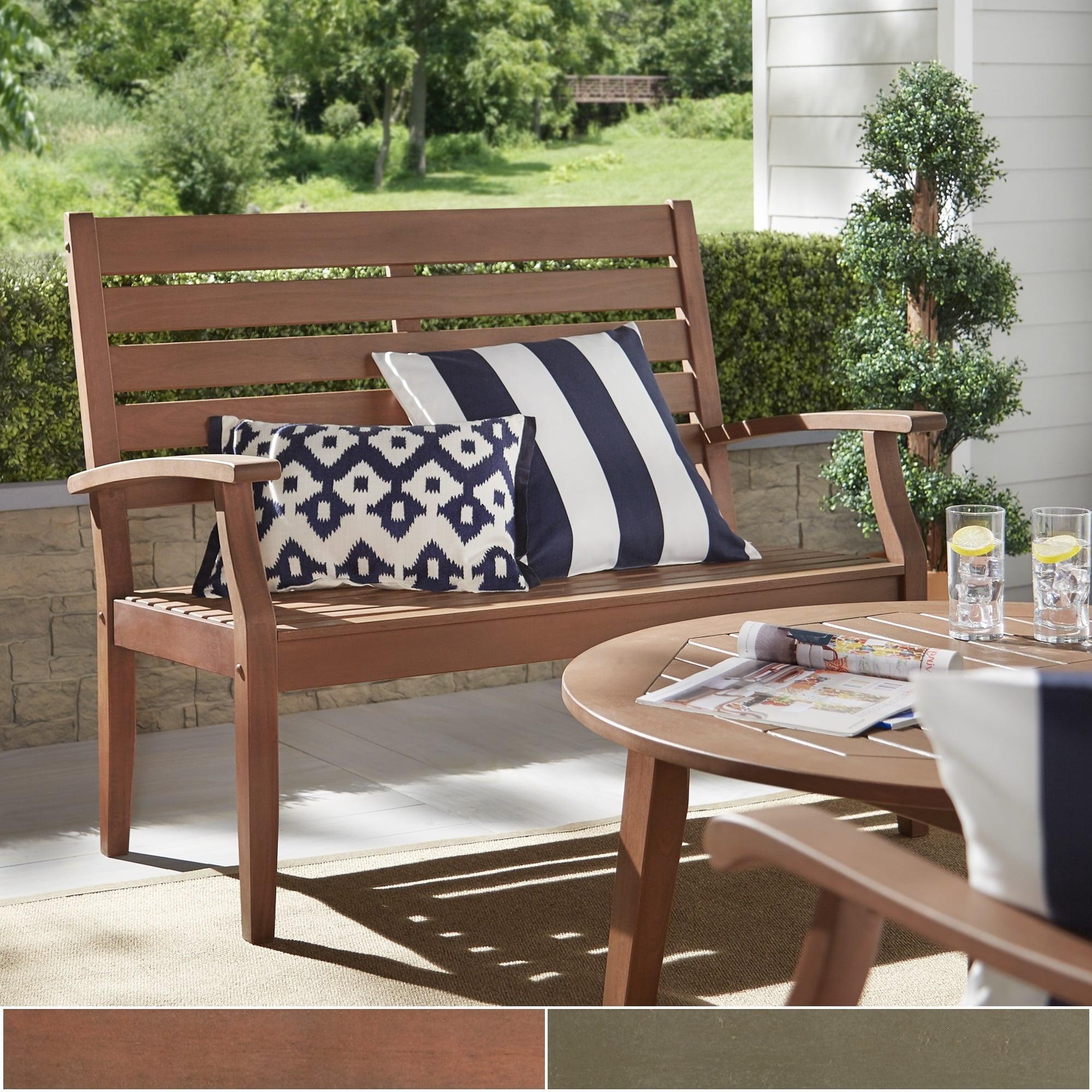 iNSPIRE Q Yasawa Wood Outdoor Garden Ladder Back Bench by...