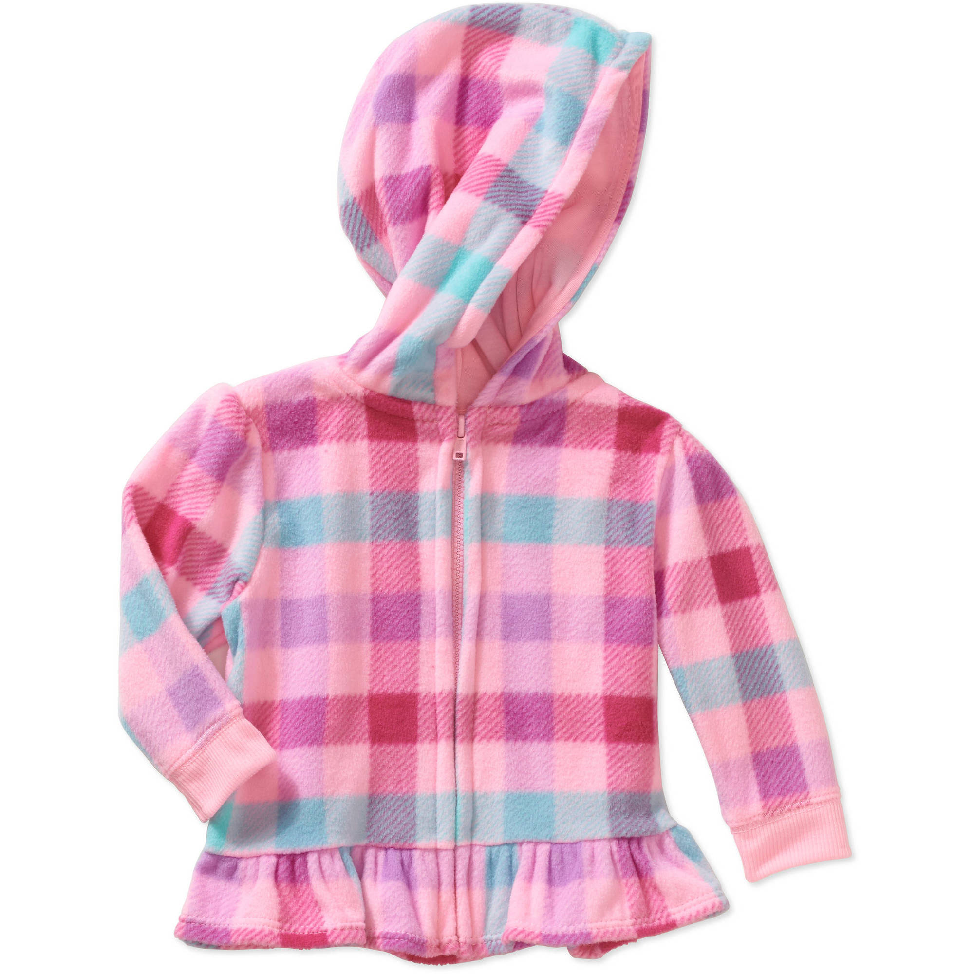 Garanimals Baby Girl Plaid Micro Fleece Hoodie