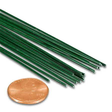 Green Florist Stem Wire 18