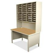 Marvel Group UTIL0066-AT 40 Slot Mailroom Organizer with Riser, Slate Gray