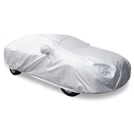3XXL Silver Tone 170T Car Cover Waterproof Snow Heat Resistant w Mirror Pocket - image 1 of 9