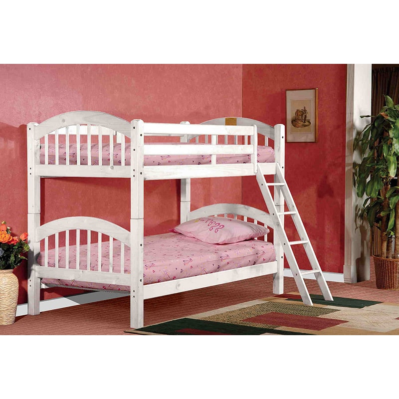 K and B Furniture Co Inc K & B B125W Arched Twin/Twin Bunk Bed