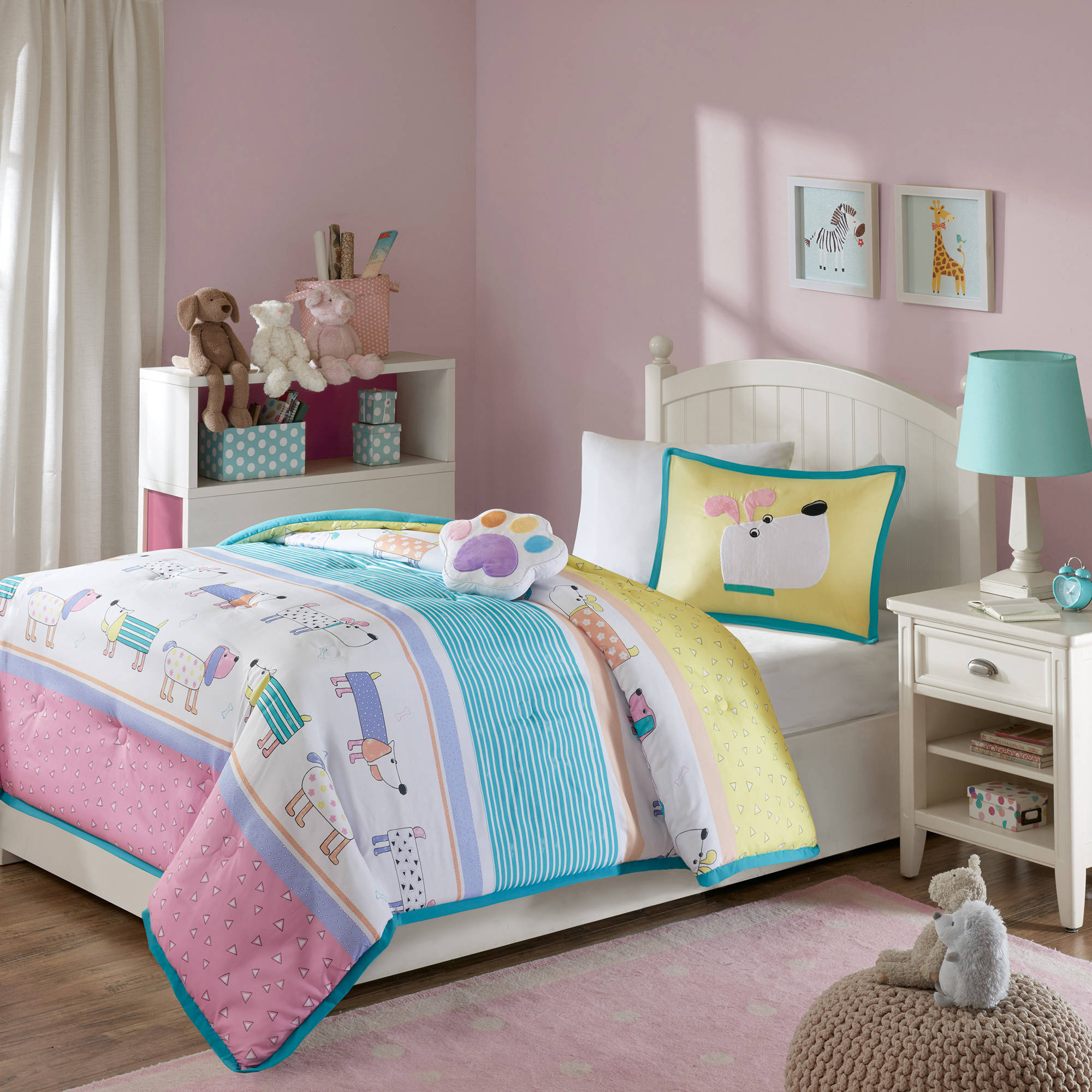 Home Essence Kids Chowder Dog Print Comforter Bedding Set