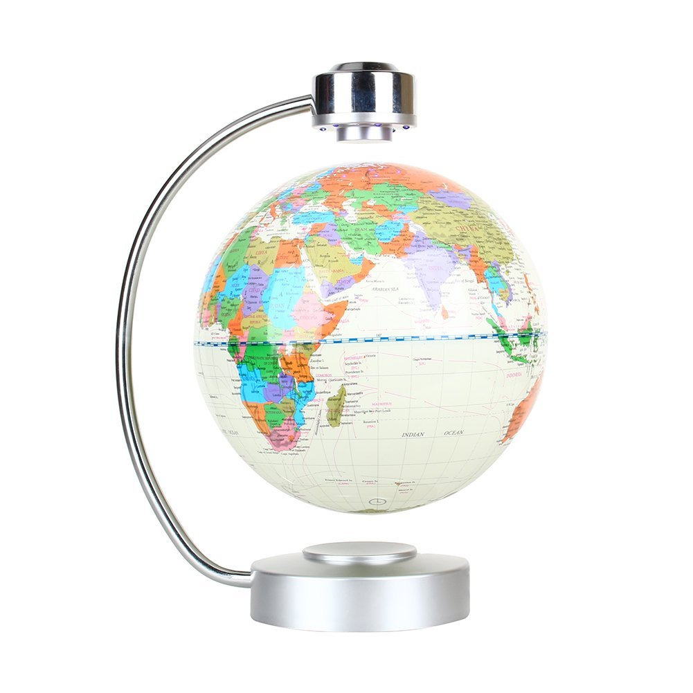 Floating Globe, Office Desk Display Magnetic Levitating And Rotating Planet  Earth Globe Ball With World
