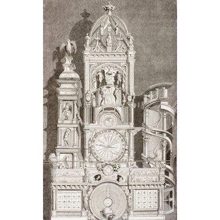 Astronomical Clock In Notre Dame Cathedral Strasbourg France The Clock Was Built In 1573 From Les Artes Au Moyen Age Published Paris 1873 Canvas Art - Ken Welsh  Design Pics (11 x 18)