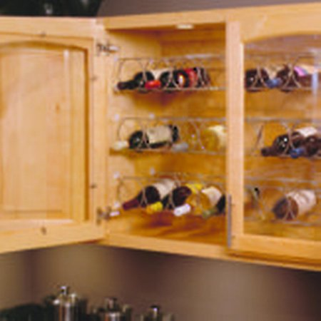 Metal Wire Wine Rack   Wr3562fn   Width 35 5 8 In  Solutions Upper Cabinets Height 4 1 4 In  Finish Frosted Nickel