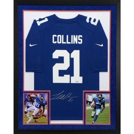 Landon Collins New York Giants SM Deluxe Framed Autographed Blue Game Jersey - Fanatics Authentic Certified