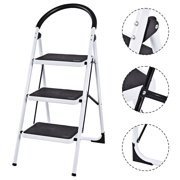 Costway 3 Step Ladder Folding Stool Heavy Duty 330Lbs Capacity Industrial Lightweight