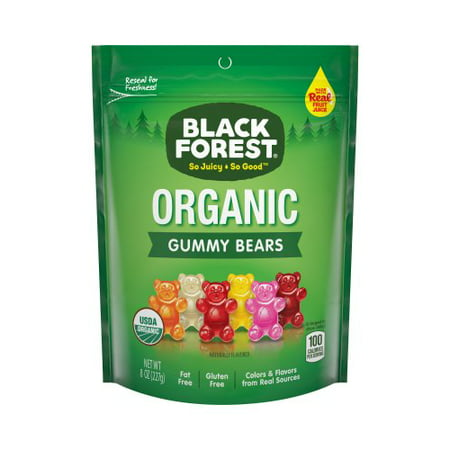 (3 Pack) Black Forest, USDA Organic, Gluten Fat Free Gummy Bears Candy, 8oz (Gummy Bugs)