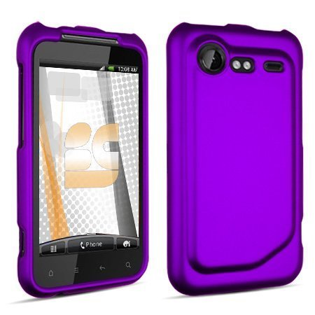 Hard Rubberized Case for HTC Droid Incredible 2 - Purple