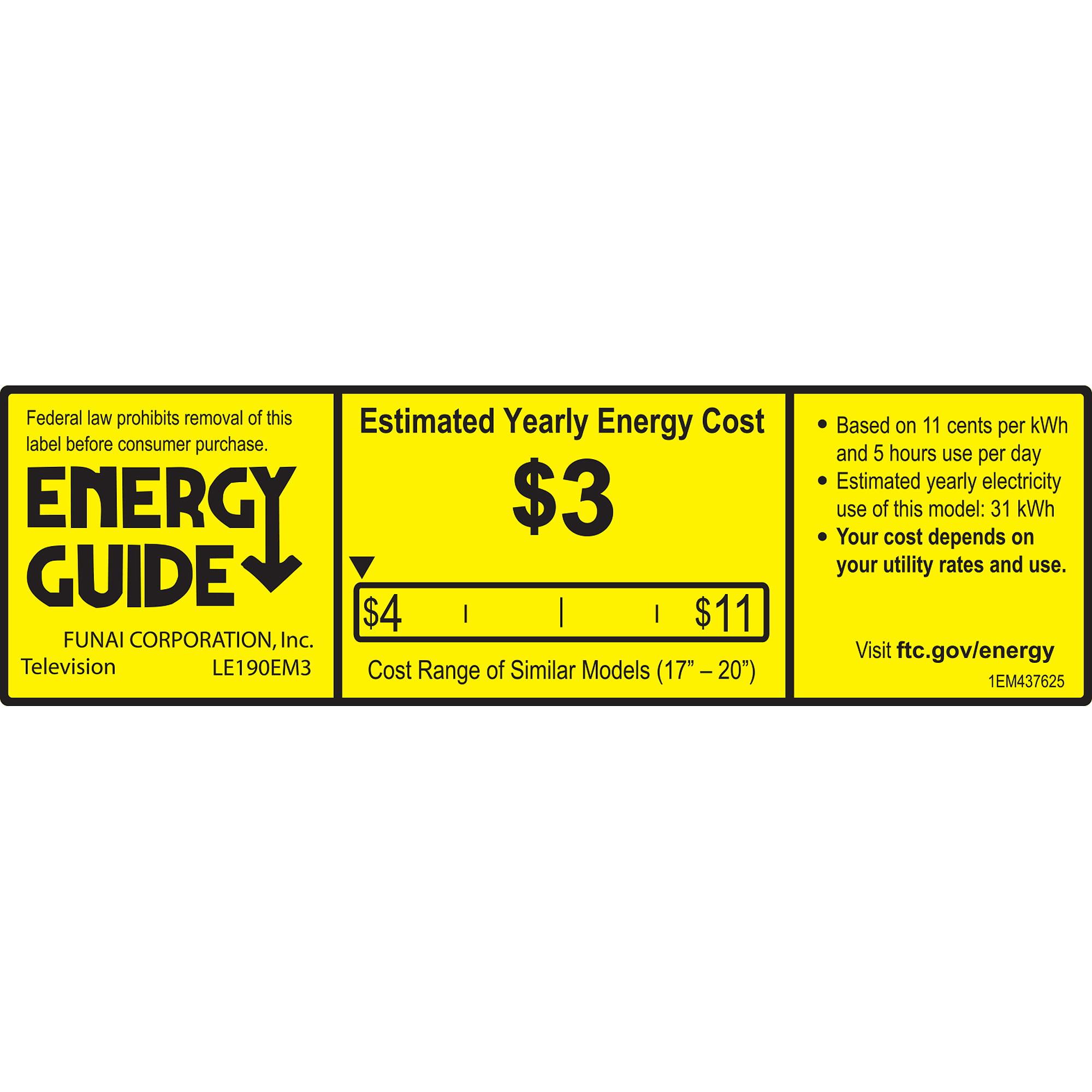 "Emerson 19"" Class LED-LCD 720p 60Hz HDTV, (2.1"" ultra-slim )LE190EM3"