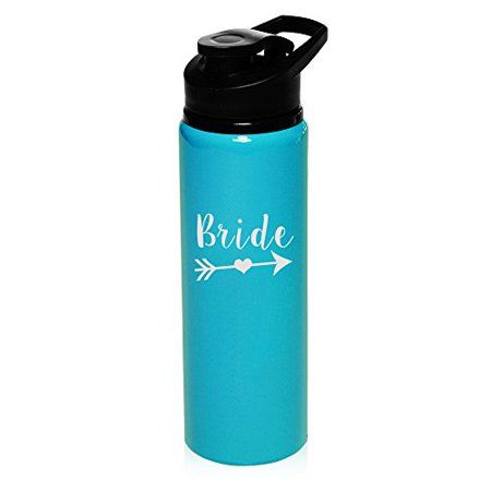 MIP Brand 25 oz Aluminum Sports Water Travel Bottle Bachelorette BRIDE Tribe (Light Blue) - Bachelorette Gear