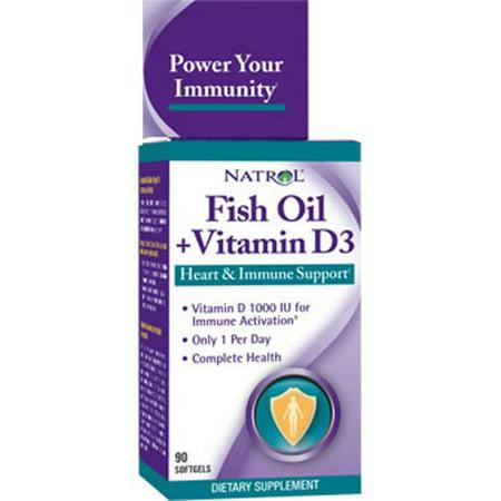 Natrol fish oil vitamin d3 softgels 90 ct for Fish oil vitamin d3