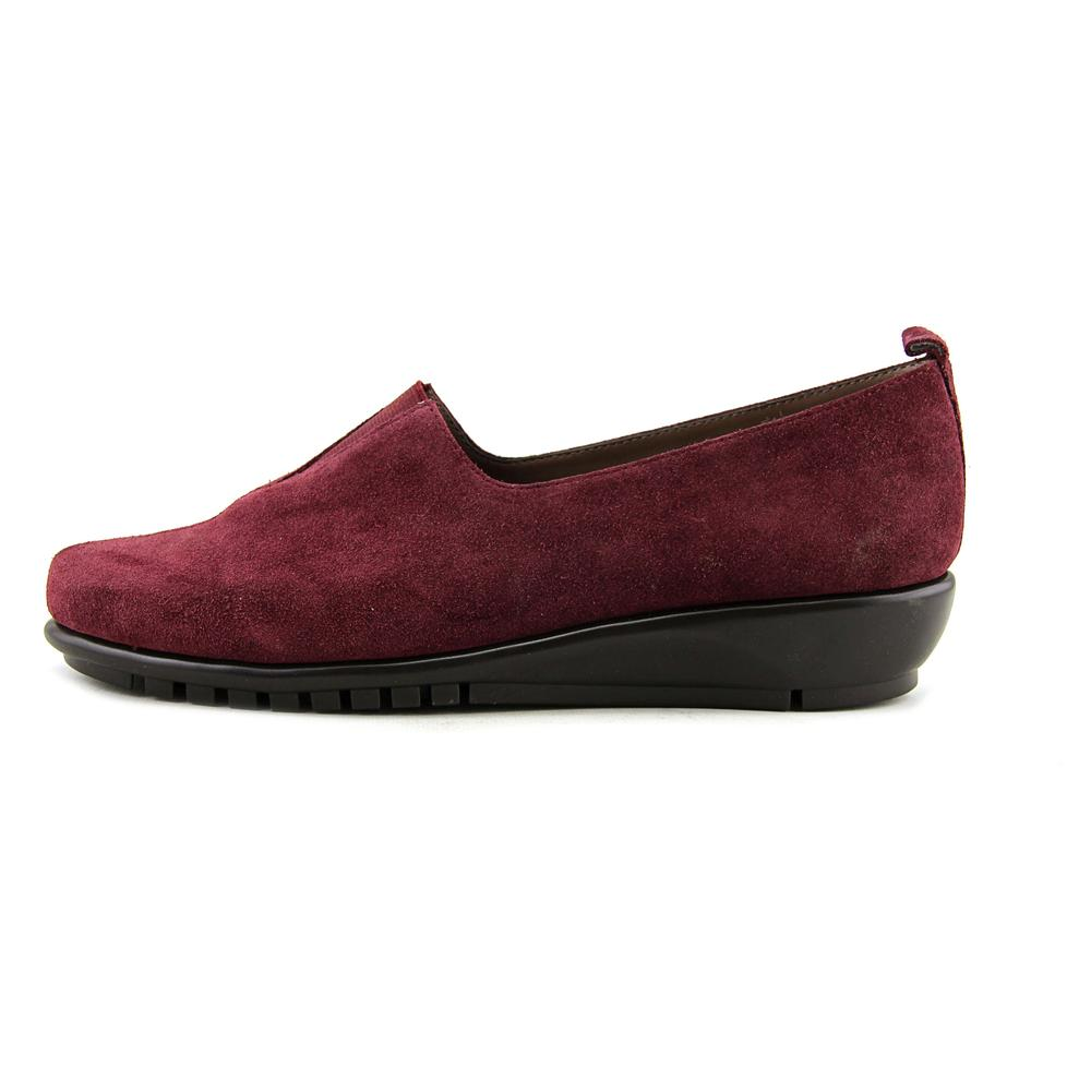 Aerosoles Friendship Women  Round Toe Suede Burgundy Loafer